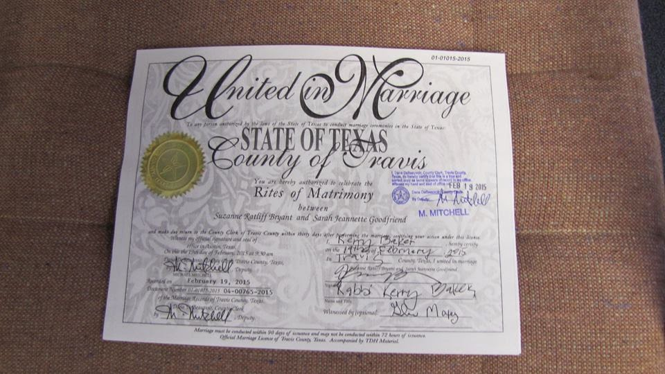 Jobsanger Texas Registers Its First Same Sex Marriage