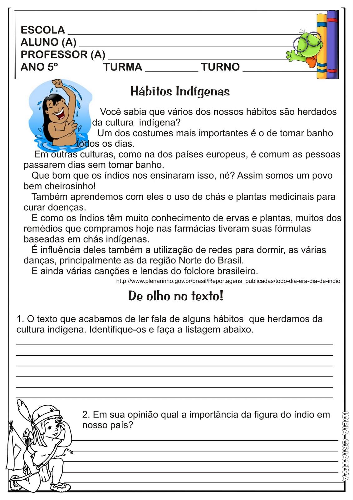 HISTÓRIA 5° ANO ATIVIDADES EXERCÍCIOS PARA IMPRIMIR IV