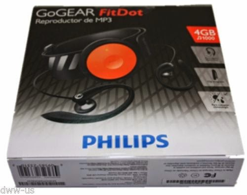 Philips GoGEAR FitDot 4GB sport MP3 player bundle free shipping #MP3022