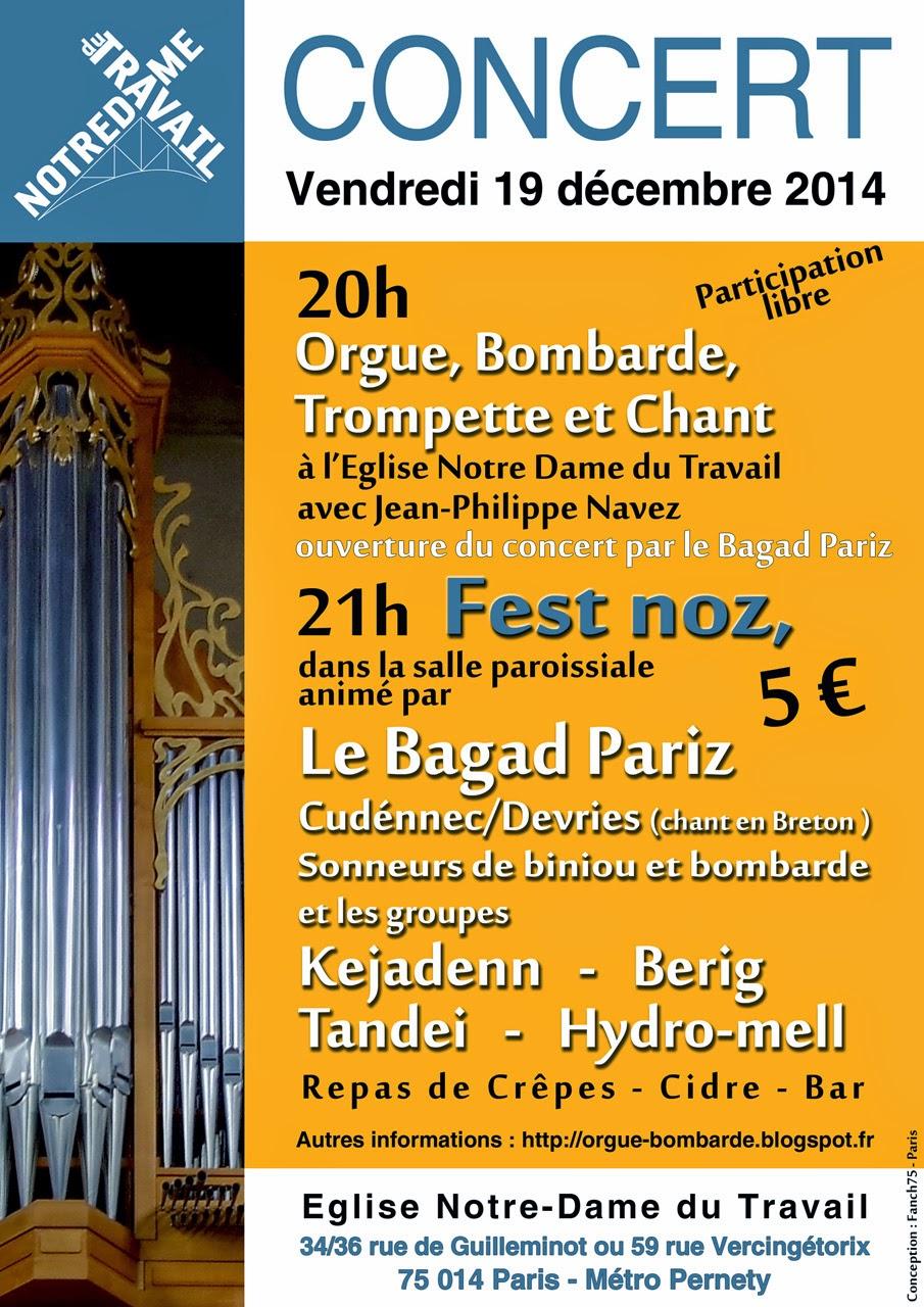 Concert Orgue Bombarde Notre Dame du Travail