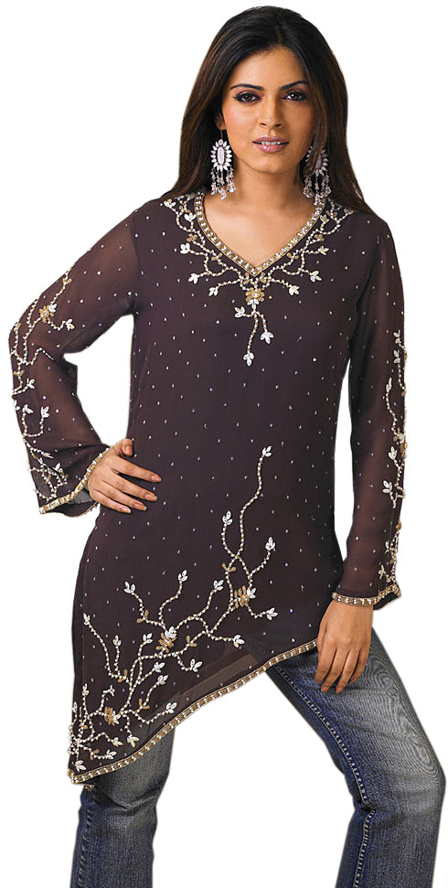 $tylish Dresses Kurta Designs With Jeans