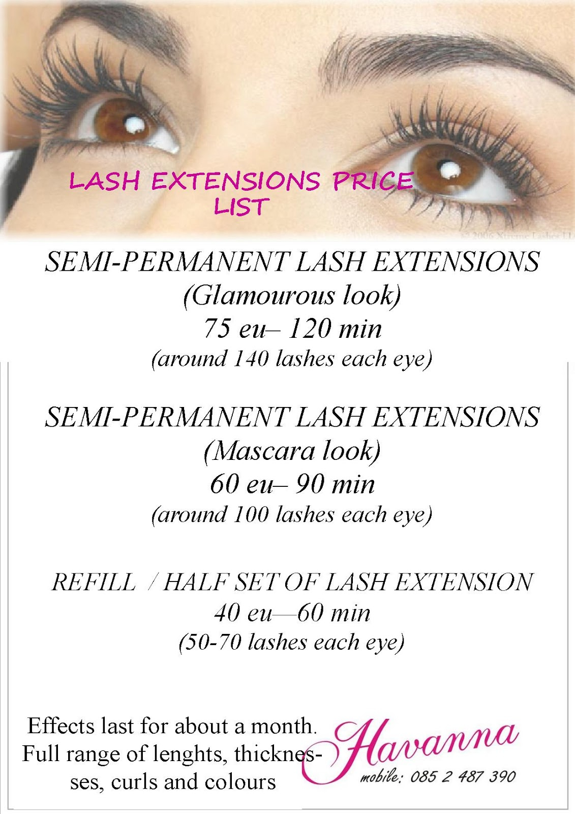 Review Eyelash Extensions Innocent Illusion