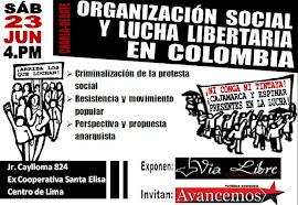 Charla Organización social y lucha libertaria en Colombia