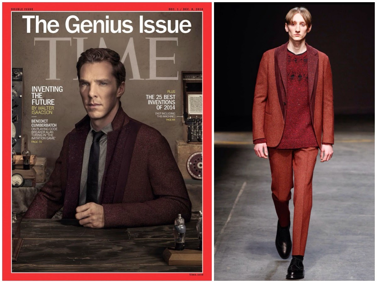 Benedict Cumberbatch wears Casely-Hayford Fall Winter 2014 - TIME Magazine Genius Issue