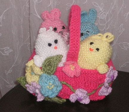 Knitting Galore Easy Knit Easter Basket