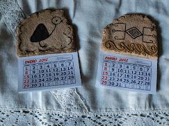 calendarios en masa de papel