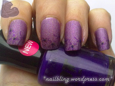 Nubar Treasure, 2True Shade 13 (Fauxnad m33) and Collection 2000 Hot Looks Parma Violet (dots)