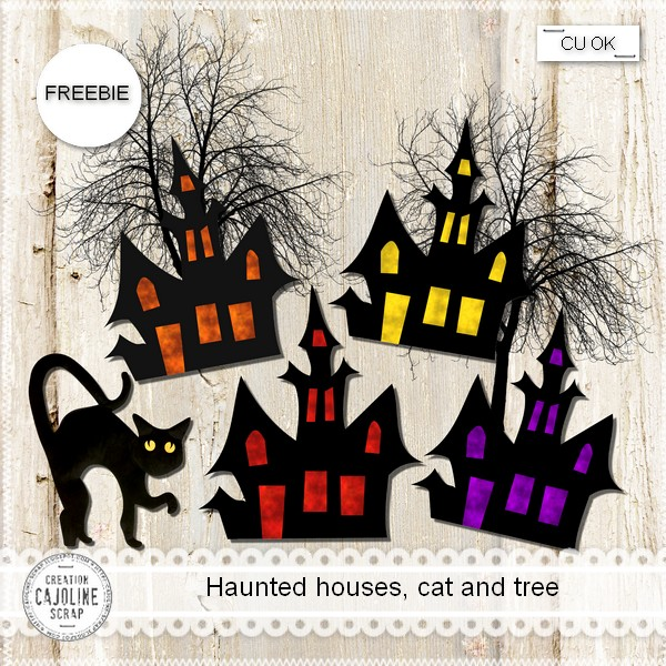 CU Freebie-haunted-houses-cat-and-tree-for Halloween BY Cajoline Scraps Cajoline_hauntedhouses_cu