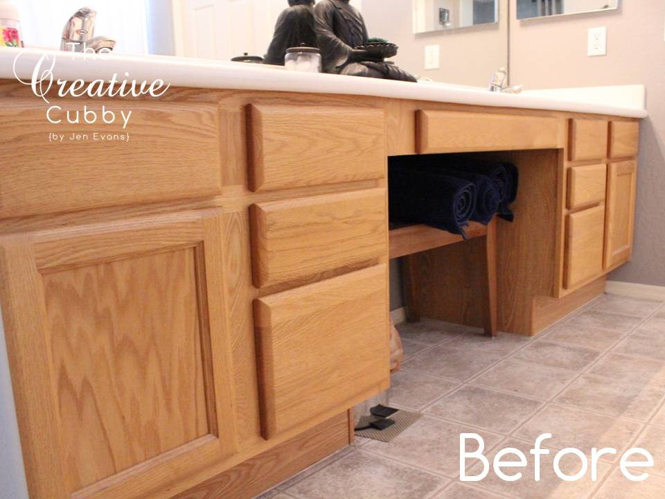 the creative cubby diy gel stain cabinet makeover - Oak Kitchen Cabinet Makeover