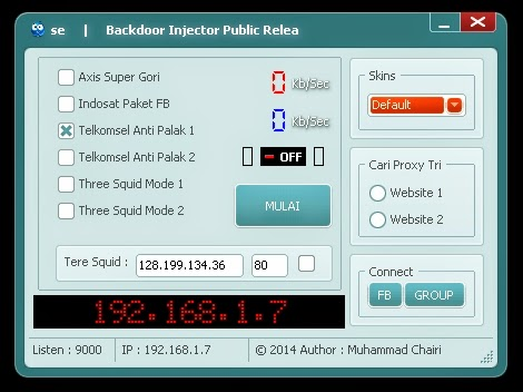 Inject Axis Indosat Telkomsel Tri Backdoor 11 Agustus 2014