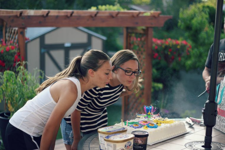 Blowing out Candles on sixteenth birthday