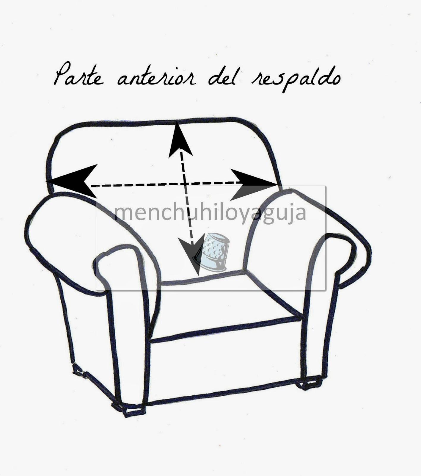 Patrones de costura c mo medir un sof para confeccionar - Patron funda sofa ...