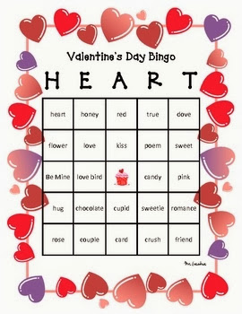 Free and Printable Valentine's Day Bingo Cards For Kids 6