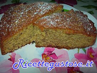torta con vino rosso e noci , ricetta torta facile