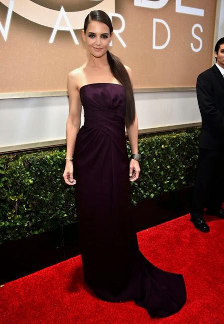 Кейти Холмс в рокля Marchesa на наградите Златен глобус 2015