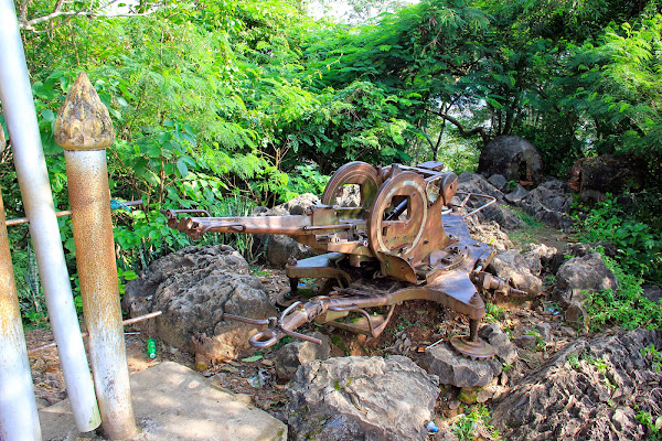 Artillery War in Laos Phou Si Hill