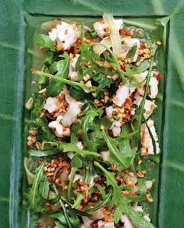 Yam pla meuk (grilled squid salad)
