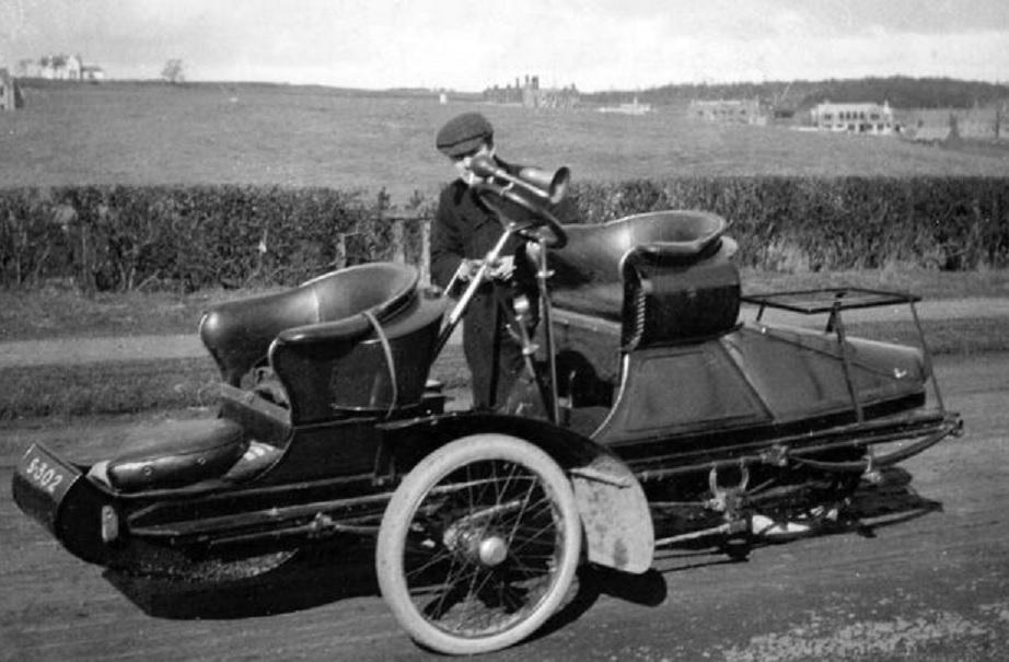 Weird car in Scotland. c1910 ~