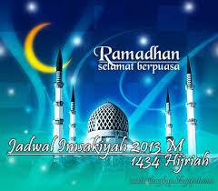 Jadwal Puasa Imsyakiyah 2013/1434 H