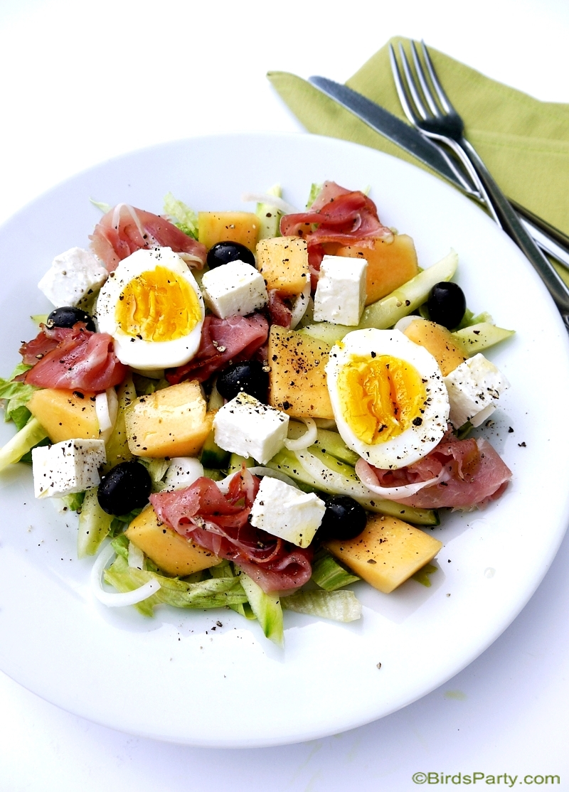 Cantaloupe & Cured Ham Summer Salad Recipe