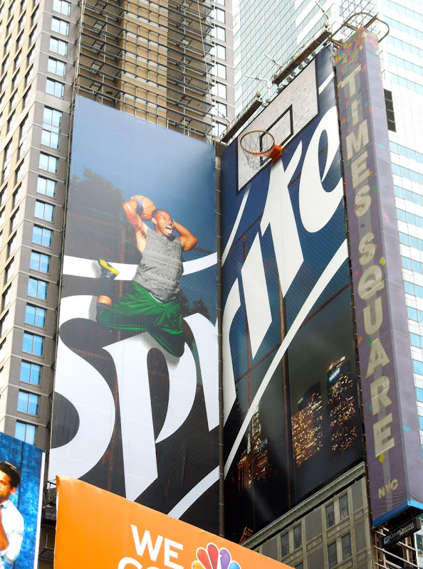 Sprite basketball installation billboard Times Square