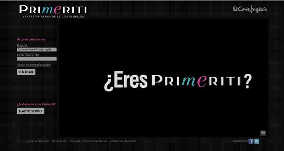 Primeriti outlet online de El Corte Inglés