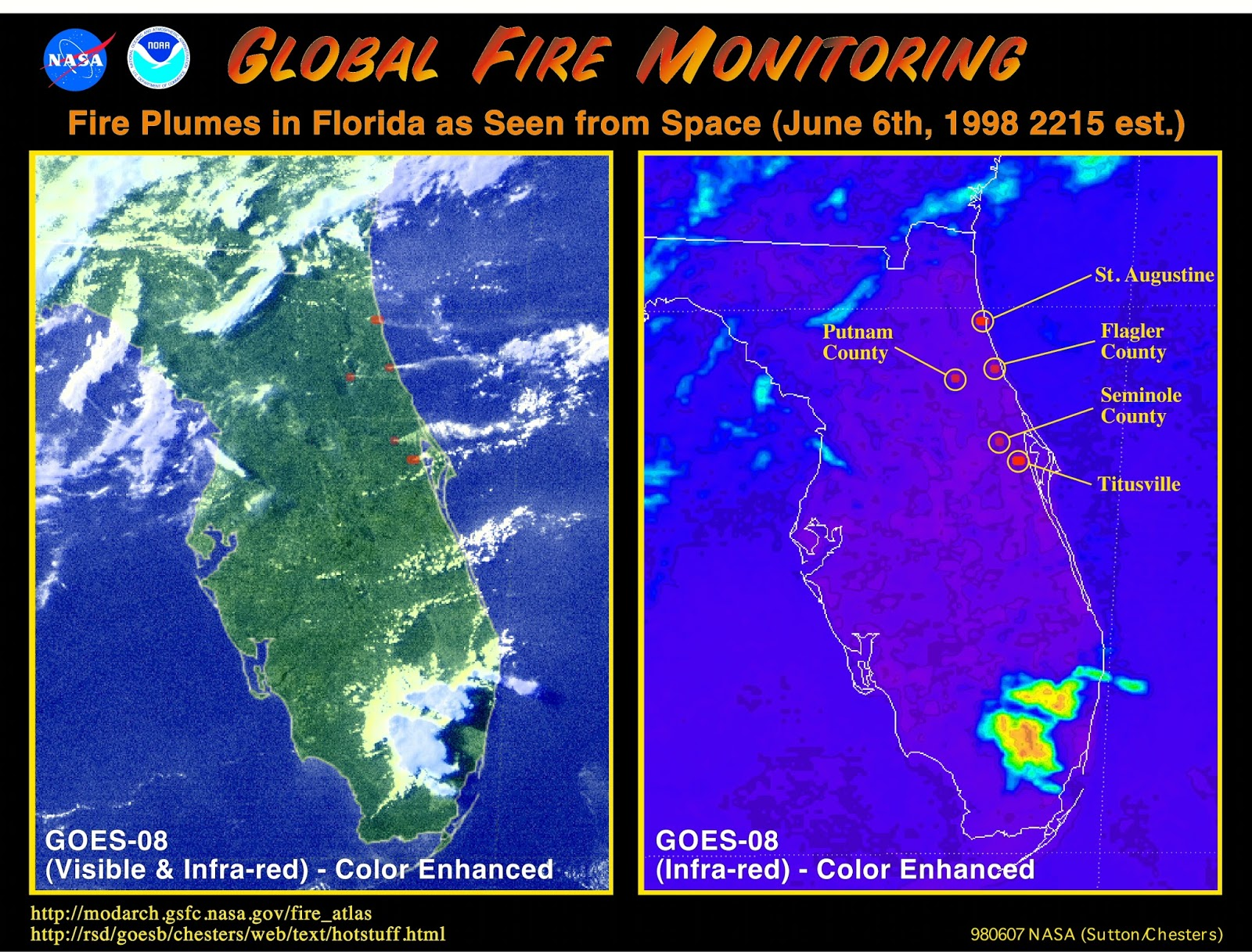 Blue Collar Prepping The Florida Wildfires Of - Florida map of fires
