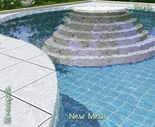 My sims 3 blog decorative pool stairs by ronja for Pool design sims 3