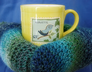 Sea Ice Mittens Crochet Pattern by Susan Carlson of Felted Button