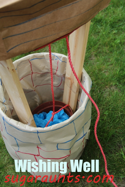 wishing well made from five gallon bucket