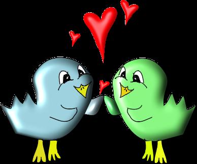 love birds clipart doodle