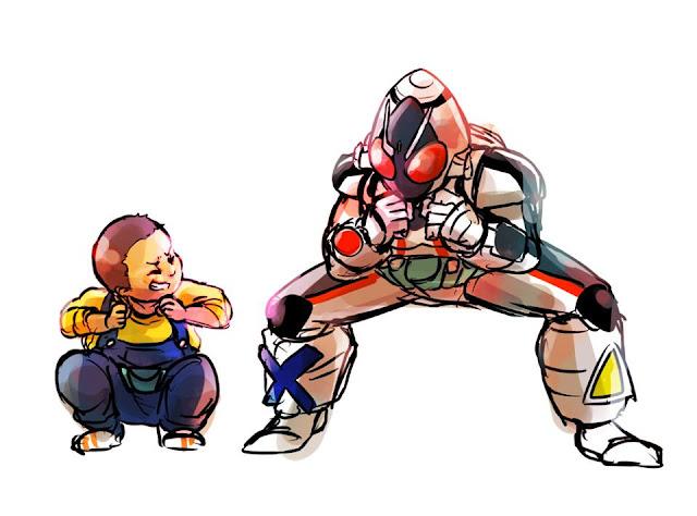Gambar, Ilustrasi, Kamen Rider, Ksatria Baja Hitam,  Masa Kecil, Kamen Rider Space