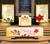 Christmas Altar Cloths, Pulpit Scarves, Banners