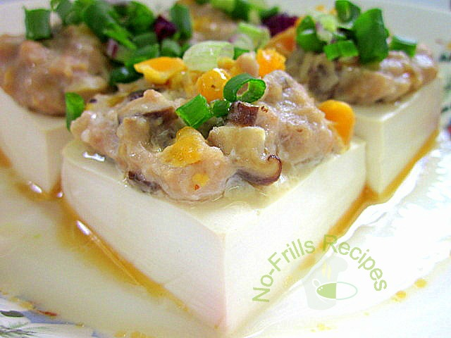 Steamed tofu with ground pork recipe – Poly food recipes blog