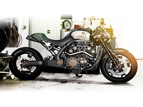 2013 Yamaha VMAX Hyper Modified Roland Sands pictures, 480x360 pixels