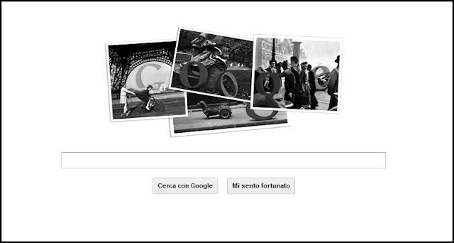 Il Google Doodle per celebrare i 100 anni dalla nascita di Robert Doisneau