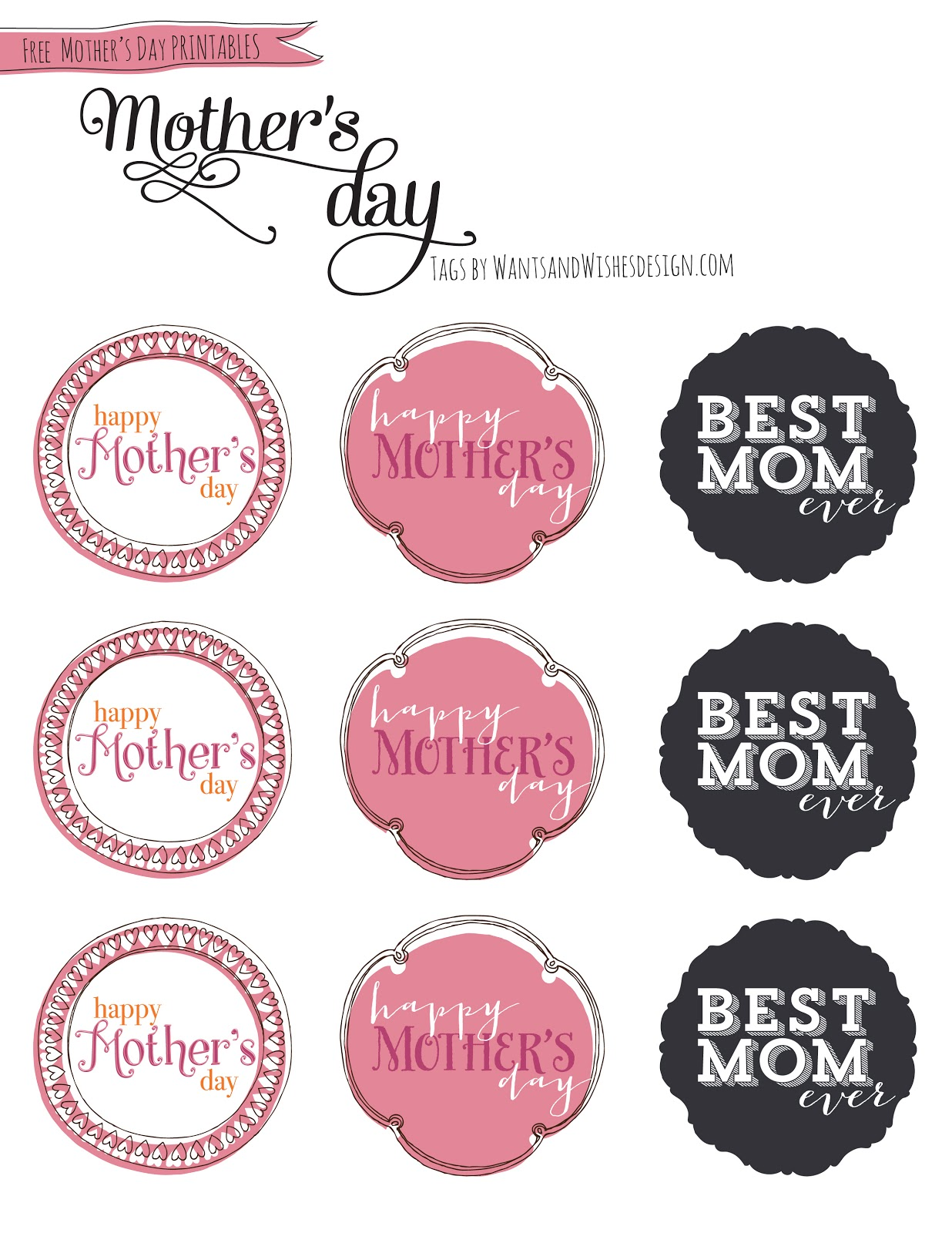 Free Mother\'s Day printables + TREAT