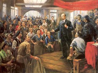 Ocho pinturas sobre Lenin en vísperas del aniversario de su muerte  Lenin%252C+discurso+a+los+trabajadores.+nalbandian