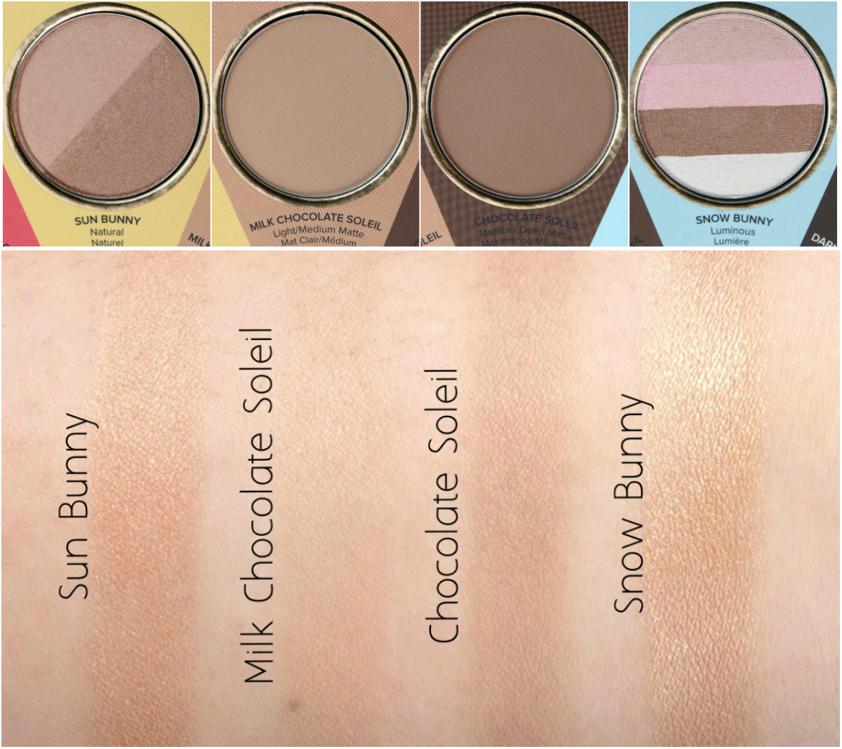 Too Faced The Little Black Book of Bronzers: Review and Swatches ...