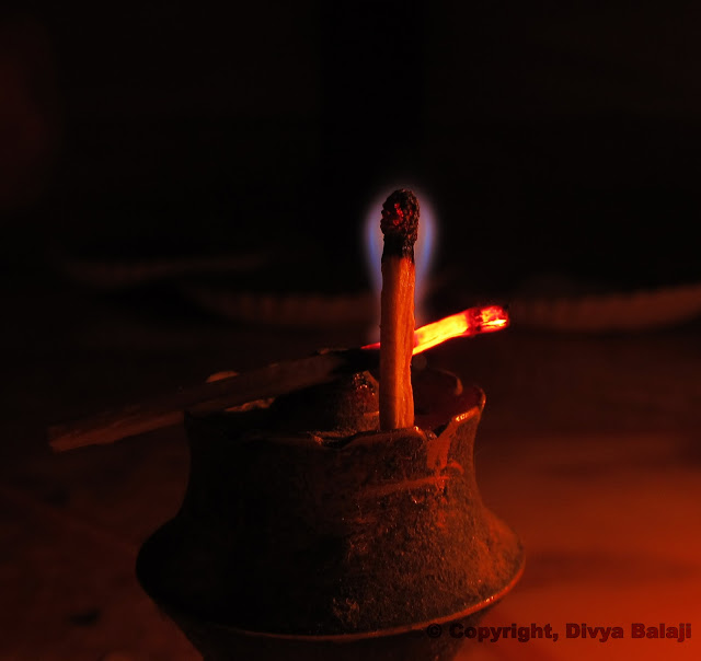 A matchstick that is about to stop burning