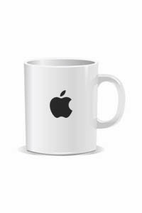 apple logo coffee mug