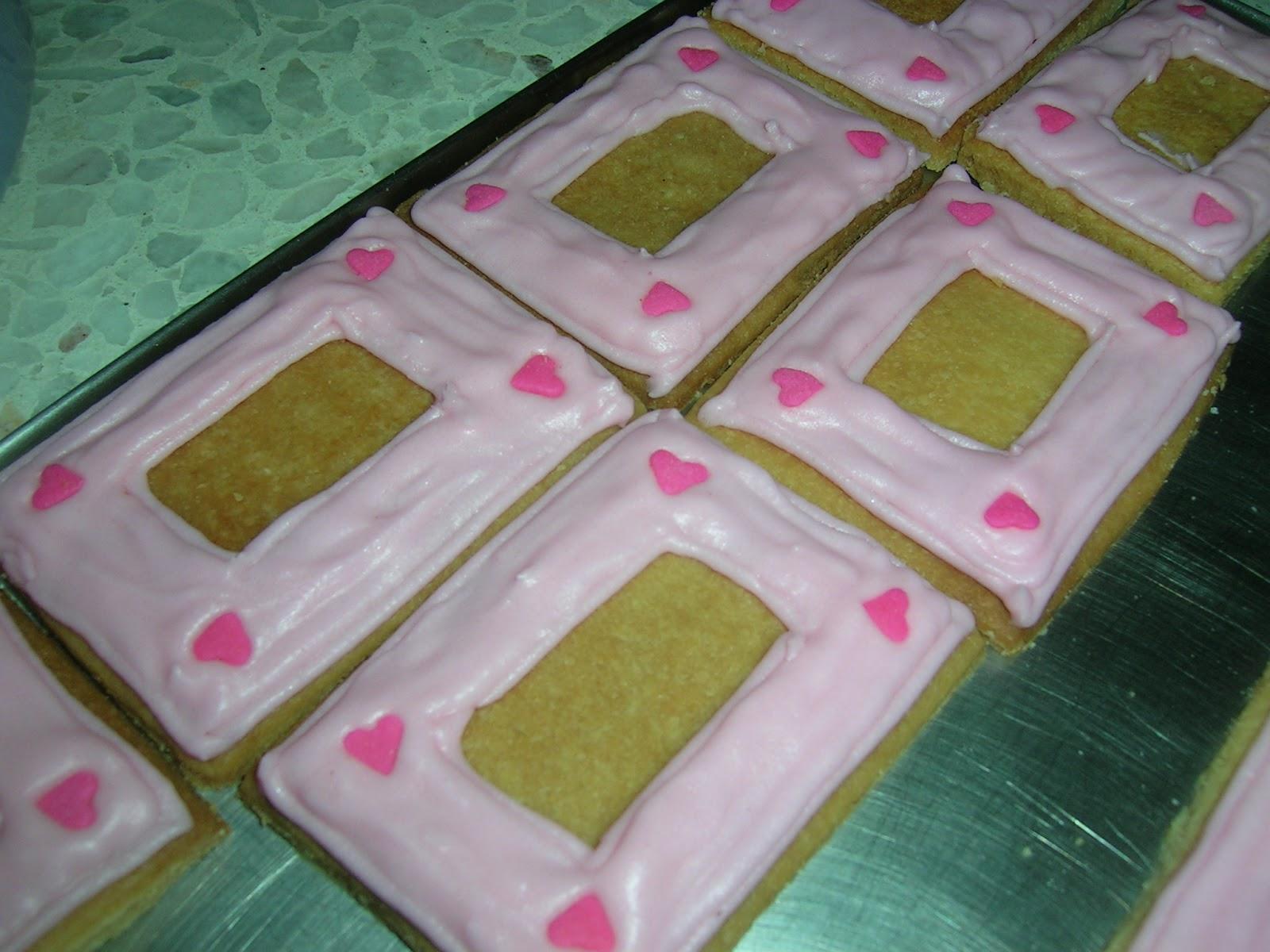 Cookies For Wedding Door Gift : Designer CookiePhoto Frame