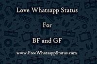 Girlfriend and Boyfriend Whatsapp Status in Hindi, Punjabi and English