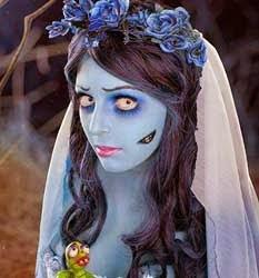 disfraz de novia muerta de tim burtom
