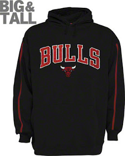 Chicago Bulls Big and Tall Black Logo Sweatshirt