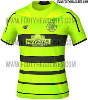 "berita bocoran Jersey Celtic third ""Bumble Bee"" terbaru musim 2015/2016"
