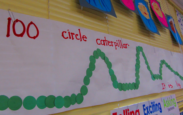 photo of: 100 Segment Caterpillar Display (100 Day RoundUP via RainbowsWithinReach) 