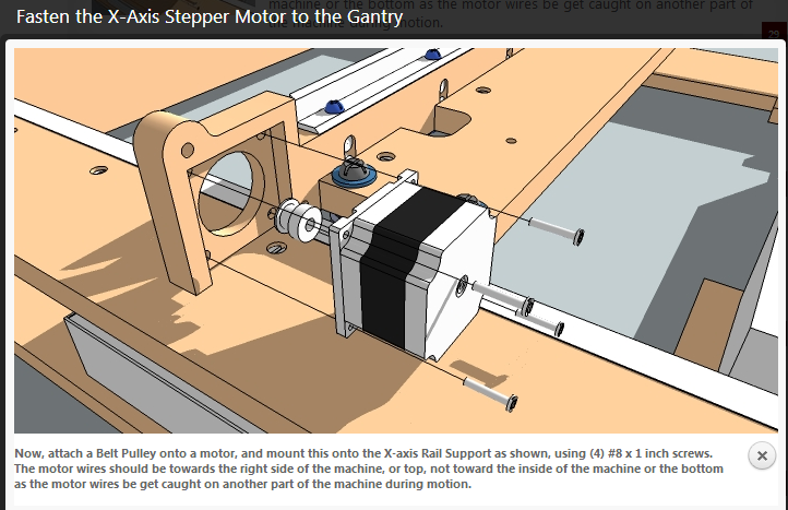 x axis stepper motor and y belt installation blacktooth diy the x axis stepper motor installs nicely in the routed gantry piece and the 2 belts for the y axis basically are pinched inside a hole using a screw