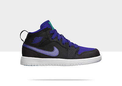 Air Jordan 1 Mid (10.5c-3y) Pre-School Boys' Shoe 554726-015
