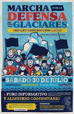 SANTIAGO: MARCHA POR LA DEFENSA DE LOS GLACIARES